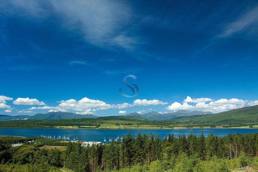 Loch Creran and Ardgour from Sutherland's Grove, Barcaldine, Argyll & Bute