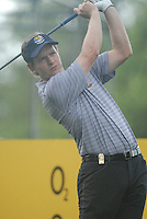 23rd September, 2006. European Ryder Cup Team player Luke Donald tees off from the 16th tee box during the afternoon foursomes session of the second day of the 2006 Ryder Cup at the K Club in Straffan, County Kildare in the Republic of Ireland..Photo: Eoin Clarke/ Newsfile.