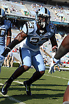 30 August 2014: UNC's Cayson Collins. The University of North Carolina Tar Heels hosted the Liberty University Flames at Kenan Memorial Stadium in Chapel Hill, North Carolina in a 2014 NCAA Division I College Football game.