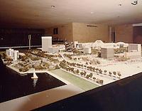 1974 October 15..Redevelopment.....Downtown master model..Millard Arnold.NEG# 74-199.NRHA#..