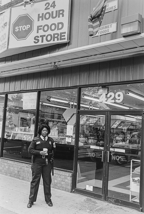 429 8th St. SE officer Salome Wilson frequents the 24 hours store which is on her beat and only 3 blocks from her station house. (Photo by Chris Martin/CQ Roll Call via Getty Images)