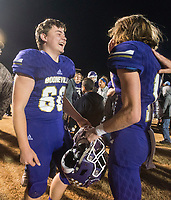 NWA Democrat-Gazette/BEN GOFF @NWABENGOFF<br /> Booneville players celebrate after defeating Prescott Saturday, Dec. 1, 2018, during the class 3A state semifinal game at Bearcat Stadium in Booneville.