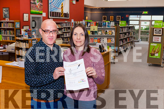 Librarian Barthy Flynn pictured with Ann Foley who is organising a writing group in Listowel Library.