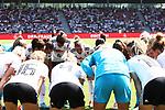 31.08.2019, Auestadion, Kassel, GER, DFB Frauen, EM Qualifikation, Deutschland vs Montenegro , DFB REGULATIONS PROHIBIT ANY USE OF PHOTOGRAPHS AS IMAGE SEQUENCES AND/OR QUASI-VIDEO<br /> <br /> im Bild | picture shows:<br /> vor dem Spiel schwoert Alexandra Popp (DFB Frauen #11) ihr Team ein, <br /> <br /> Foto © nordphoto / Rauch
