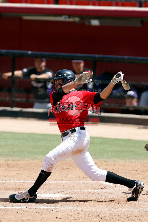 Ryan O'Sullivan - 2009 San Diego State Aztecs playing against the Texas Christian Horned Frogs at Tony Gwynn Stadium, San Diego, CA - 04/25/2009 .Photo by:  Bill Mitchell/Four Seam Images