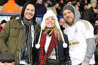 Swansea Fans enjoy the game at the Barclays Premier League match between West Bromwich Albion and Swansea City at The Hawthorns on the 2nd of February 2016
