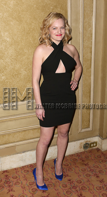 Elisabeth Moss attends the Broadway Opening Night press reception for 'The Heidi Chronicles'  at The Music Box Theatre on March 19, 2015 in New York City.