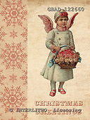Addy, CHRISTMAS CHILDREN, paintings,+angels, vintage,++++,GBAD122660,#XK# Weihnachten, nostalgisch, Navidad, nostálgico, illustrations, pinturas