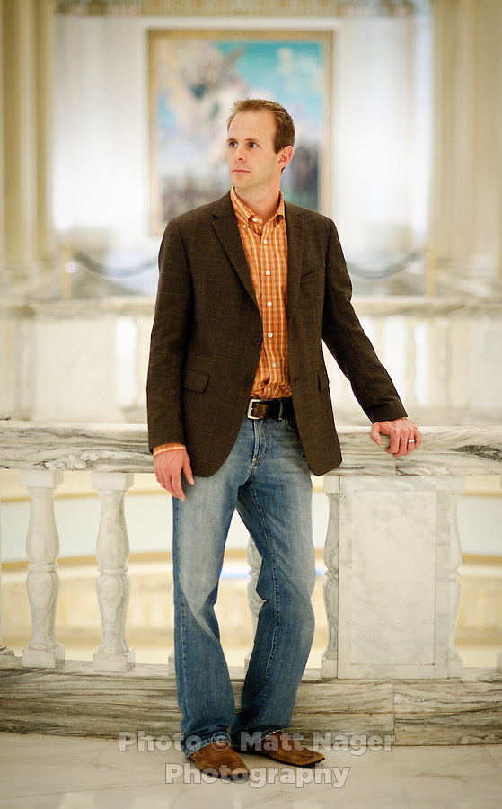 Democrat Cory Williams (cq) a member of the Oklahoma House of Representatives from District 34, in the State Capital building in Oklahoma City, Oklahoma, Friday, Nov., 12, 2010. The recent election became ugly in Oklahoma when opponents of Williams (cq), of Stillwater, ran a series of campaign ads portraying Williams as supporting Islamic extremists after he voted against a referendum to ban Sharia Law from Oklahoma courts...PHOTO/ MATT NAGER