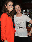 Aisling Kendall and Dearbhla Gibney pictured at the Ham Sandwich gig in McHugh's. Photo: Colin Bell/pressphotos.ie