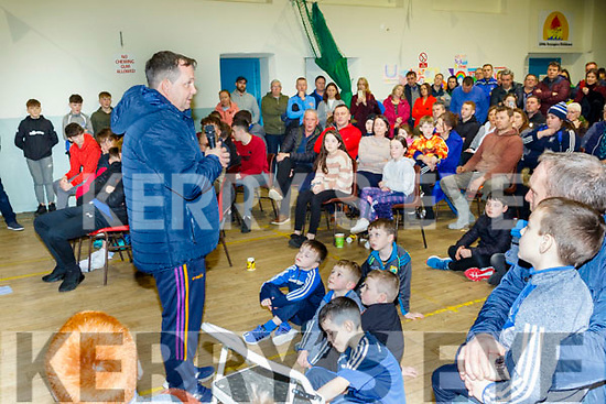 Guest speaker, Davy Fitzgerald, gave a great speech after his arrival at the St Brendans hurling Ardfert, medal presentation night last Saturday.