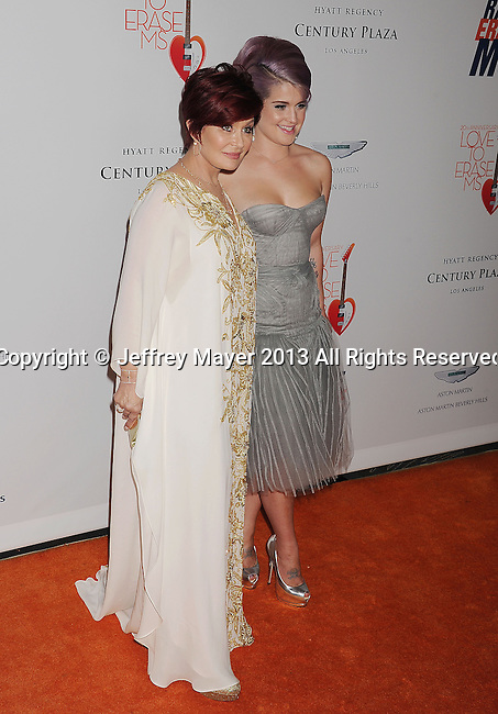 CENTURY CITY, CA- MAY 03: TV personalities Sharon Osbourne and Kelly Osbourne arrive at the 20th Annual Race To Erase MS Gala 'Love To Erase MS' at the Hyatt Regency Century Plaza on May 3, 2013 in Century City, California.