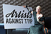 Artists Against TTIP <br /> The Transatlantic Trade &amp; Investment Partnership (TTIP) - a growing group of performers musicians designers directors who are raising awareness of the threats posed by TTIP. <br /> at the Young Vic Theatre London Great Britain <br /> 2nd July 2015 <br /> <br /> <br /> <br /> Dame Vivienne Westwood <br /> <br /> <br /> <br /> Photograph by Elliott Franks <br /> Image licensed to Elliott Franks Photography Services