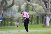 Thomas Aiken (RSA) plays his 2nd shot on the 8th hole during Friday's storm delayed Round 2 of the Andalucia Valderrama Masters 2018 hosted by the Sergio Foundation, held at Real Golf de Valderrama, Sotogrande, San Roque, Spain. 19th October 2018.<br /> Picture: Eoin Clarke | Golffile<br /> <br /> <br /> All photos usage must carry mandatory copyright credit (&copy; Golffile | Eoin Clarke)