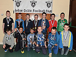 Players from The Ardee Celtic Under 10B with their medals at the Ardee Celtic annual awards night in Ardee parish centre. Photo:Colin Bell/pressphotos.ie