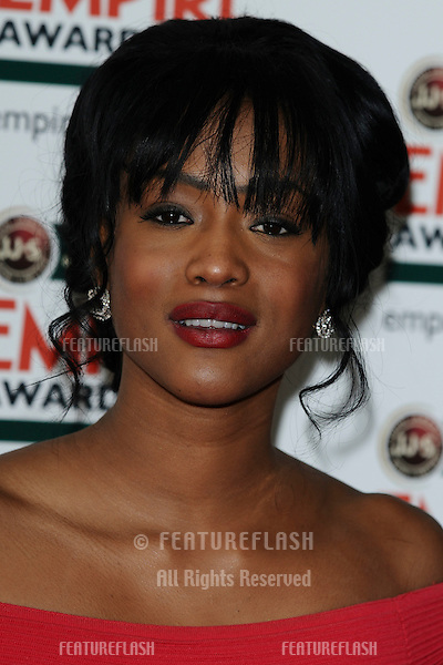 Tiana Benjamin arriving for the Empire Film Awards 2012 at the Grosvenor House Hotel, London. 25/03/2012 Picture by: Steve Vas / Featureflash