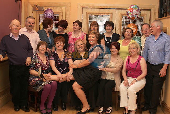 Cathleen Flynn with all her workmates from Gala Cleaners at her Party in The Thatch...(Photo credit should read Jenny Matthews www.newsfile.ie)....This Picture has been sent you under the conditions enclosed by:.Newsfile Ltd..The Studio,.Millmount Abbey,.Drogheda,.Co Meath..Ireland..Tel: +353(0)41-9871240.Fax: +353(0)41-9871260.GSM: +353(0)86-2500958.email: pictures@newsfile.ie.www.newsfile.ie.
