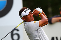 Thongchai Jaidee tees off at the 6th tee during the BMW PGA Golf Championship at Wentworth Golf Course, Wentworth Drive, Virginia Water, England on 27 May 2017. Photo by Steve McCarthy/PRiME Media Images.