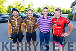 Edward Casey, John O'Donoghue, Dermot Murphy and Brian Sheehan, members of Listry Mafia Cycling group who are taking part in the Tour de Munster charity cycle in aid of Down Syndrome Ireland which has stopped overnight on Friday in the Rose Hotel Tralee.