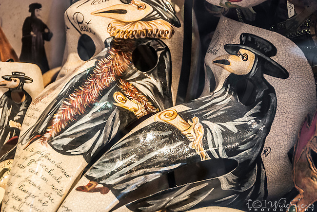 Painted Venetian Beak Mask, Venice Italy
