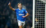 01.12.2019 Rangers v Hearts: Greg Stewart scores goal no 5 for Rangers and celebrates
