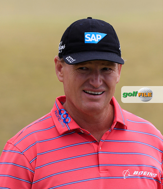 Ernie ELS (RSA) at the 5th green during Thursday's Round 1 of the 2015 U.S. Open 115th National Championship held at Chambers Bay, Seattle, Washington, USA. 6/18/2015.<br /> Picture: Golffile | Eoin Clarke<br /> <br /> <br /> <br /> <br /> All photo usage must carry mandatory copyright credit (&copy; Golffile | Eoin Clarke)