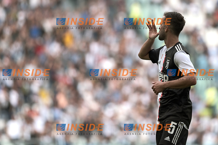Miralem Pjanic of Juventus celebrates after scoring the goal of 1-0 for his side <br /> Torino 28/09/2019 Allianz Stadium <br /> Football Serie A 2019/2020 <br /> Juventus FC - SPAL <br /> Photo OnePlusNine / Insidefoto