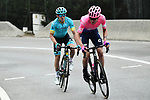 Tejay Van Garderen (USA) EF Education First and Jon Izaguirre (ESP) Astana Pro Team climb during Stage 8 of the 77th edition of Paris-Nice 2019 running 110km from Nice to Nice, France. 16th March 2019<br /> Picture: ASO/Alex Broadway | Cyclefile<br /> All photos usage must carry mandatory copyright credit (&copy; Cyclefile | ASO/Alex Broadway)