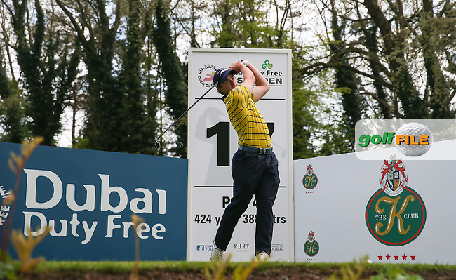 Paul Dunne (IRL) on the 17th tee during Monday's practice round ahead of the 2016 Dubai Duty Free Irish Open Hosted by The Rory Foundation which is played at the K Club Golf Resort, Straffan, Co. Kildare, Ireland. 16/05/2016. Picture Golffile | David Lloyd.<br /> <br /> All photo usage must display a mandatory copyright credit as: &copy; Golffile | David Lloyd.