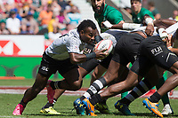 Twickenham, United Kingdom. 3rd June 2018, HSBC London Sevens Series. Game 38 Cup Semi Final. Fiji vs Ireland. <br /> <br /> Fiji's, Jerry TUWAI, break's from the back of the scrum, during the Rugby 7's, match played at the  RFU Stadiu, m, Twickenham, England, <br /> <br /> <br /> <br /> &copy; Peter SPURRIER/Alamy Live News