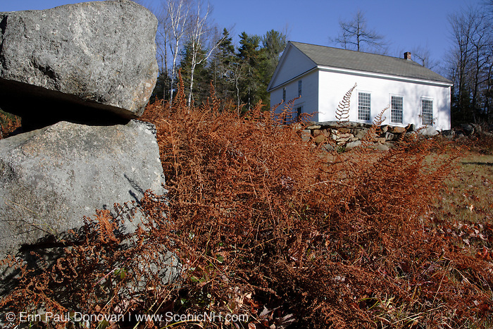 Seventh-day Adventist Church during the autumn months in Washington, New Hampshire USA .