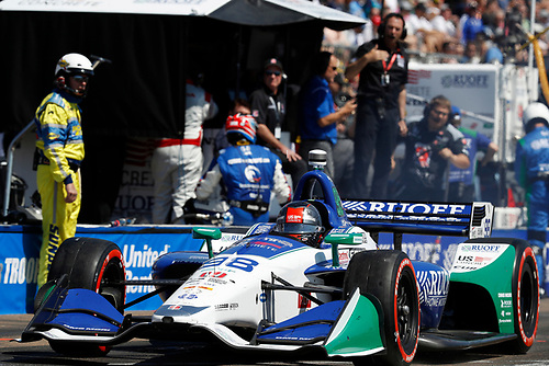 2018 Verizon IndyCar Series - Firestone Grand Prix of St. Petersburg<br /> St. Petersburg, FL USA<br /> Sunday 11 March 2018<br /> Marco Andretti, Herta - Andretti Autosport Honda, pit stop<br /> World Copyright: Michael L. Levitt<br /> LAT Images<br /> ref: Digital Image _01I2844