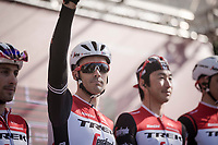 Team Trek-Segafredo podium presentation with nestor Markel IRIZAR (ESP/Trek-Segafredo)<br /> <br /> 13th Strade Bianche 2019 (1.UWT)<br /> One day race from Siena to Siena (184km)<br /> <br /> ©kramon