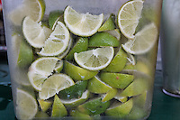 Limes in a jar for drinks at Scotty's in Coconut Grove where people can pull their boats up to dock and eat at the outside restaurant.