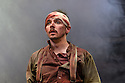 """London, UK. 22.06.2016.  Shakespeare's Globe presents """"Macbeth"""", by William Shakespeare, directed by Iqbal Khan.  Picture shows:  Terence Keeley (Bloody Captain). Photograph © Jane Hobson."""