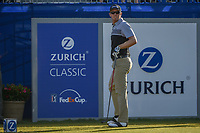 Seamus Power (IRL) watches his tee shot on 1 during Round 3 of the Zurich Classic of New Orl, TPC Louisiana, Avondale, Louisiana, USA. 4/28/2018.<br /> Picture: Golffile | Ken Murray<br /> <br /> <br /> All photo usage must carry mandatory copyright credit (&copy; Golffile | Ken Murray)