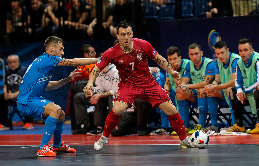 Slobodan Janjic UEFA Euro 2016 Futsal Evropsko Prvenstvo, Srbija - Slovenija 2.2.1016. Februar 2. 2016. (credit image & photo: Pedja Milosavljevic / STARSPORT)