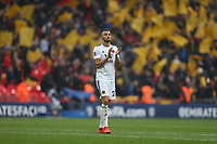 Wolverhampton Wanderers' Romain Saiss applauds the Wolves fans at the end of the game<br /> <br /> Photographer Rob Newell/CameraSport<br /> <br /> Emirates FA Cup Semi-Final  - Watford v Wolverhampton Wanderers - Sunday 7th April 2019 - Wembley Stadium - London<br />  <br /> World Copyright © 2019 CameraSport. All rights reserved. 43 Linden Ave. Countesthorpe. Leicester. England. LE8 5PG - Tel: +44 (0) 116 277 4147 - admin@camerasport.com - www.camerasport.com