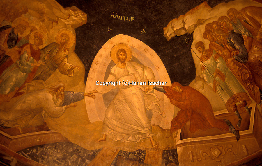 Turkey, Istanbul. The Kariye museum, Byzantine frescoes at the 11th century church of St. Saviour