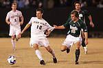 8 December 2007: Notre Dame's Matt Armstrong (15) has hold of the jersey of Wake Forest's Corben Bone (10). Wake Forest University defeated Notre Dame University 1-0 in overtime at Spry Stadium in Winston-Salem, NC in an NCAA Men's Soccer tournament quarterfinal.