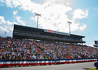 Mar 15, 2019; Gainesville, FL, USA; General view of the crowd of NHRA fans in the grandstands during qualifying for the Gatornationals at Gainesville Raceway. Mandatory Credit: Mark J. Rebilas-USA TODAY Sports