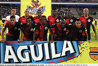CUCUTA -COLOMBIA, 20-08-2015: Jugadores del Cucuta Deportivo posan para una foto previo al encuentro c on Atlético Huila por la fecha 7 de la Liga Aguila II 2015 disputado en el estadio General Santander de la ciudad de Cúcuta./ Players of Cucuta Deportivo pose toa photo prior the matcha against Atletico Huila for the 7th  date of the Aguila League II 2015 played at General Santander stadium in Cucuta city. Photo: VizzorImage / Manuel Hernandez /