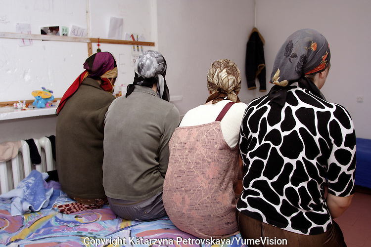 4 woman whove just arrived 2 week ago from Chechnya, at the URiC Radom refugee Centre in Poland..The husband has been killed by Russian force in 2000. .The mother and her 3 daughters, 27, 21 and 20 years old, have been surviving in one room, in the basement of a demolish building in Grozny for the last five years..They were  intruded several times by the cowled soldiers of the Russian Force . The 21 years old daughter have been raped. Soon after theyve left Grozny and have been travelled for 6 days and night from Grozny to Moscow and then to Poland to reach the safety..-For security reason, the face of the adult asylum seeker have been evicted of the photography..-For security reason, the names of the adult asylum seeker have been change. .-Article 9 of the Act of 13 June 2003 on grating protection on the Polish territory (Journal of Laws, No 128, it. 1176) personal data of refugees are an object of particular protection..-Cases where publication of a picture or name of asylum seeker had dramatic consequences for this persons and is family back in Chechnya. .Please have safety of those people in mind. Thank you.