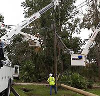 2017 FPL Hurricane Irma restoration in St. Augusting, Fla. on September 16, 2017.