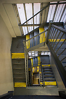 Stairwell in a building in the Chelsea neighborhood of New York is seen on Saturday, March 30, 2013. (© Richard B. Levine)