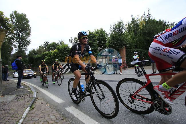 Vasil Kiryienka (BLR) Team Sky on the final climb of Superga near the finish of the 2015 96th Milan-Turin 186km race starting at San Giuliano Milanese, Italy. 1st October 2015.<br /> Picture: Eoin Clarke | Newsfile