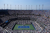 Novak Djokovic of Serbia against  Kei Nishikori of Japan during men semifinal match at the US Open 2014 tennis tournament in the USTA Billie Jean King National Center, New York.  09.05.2014. VIEWpress