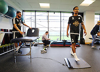 Pictured: Angel Rangel (L) and Kyle Naughton (R) Sunday 28 June 2015<br />