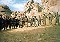 Iran 1999.Kala Resh : New Iranian peshmergas of PKK dancing  Iran 1999 A Kala Resh, nouvelles recrues iraniennes du PKK dansant