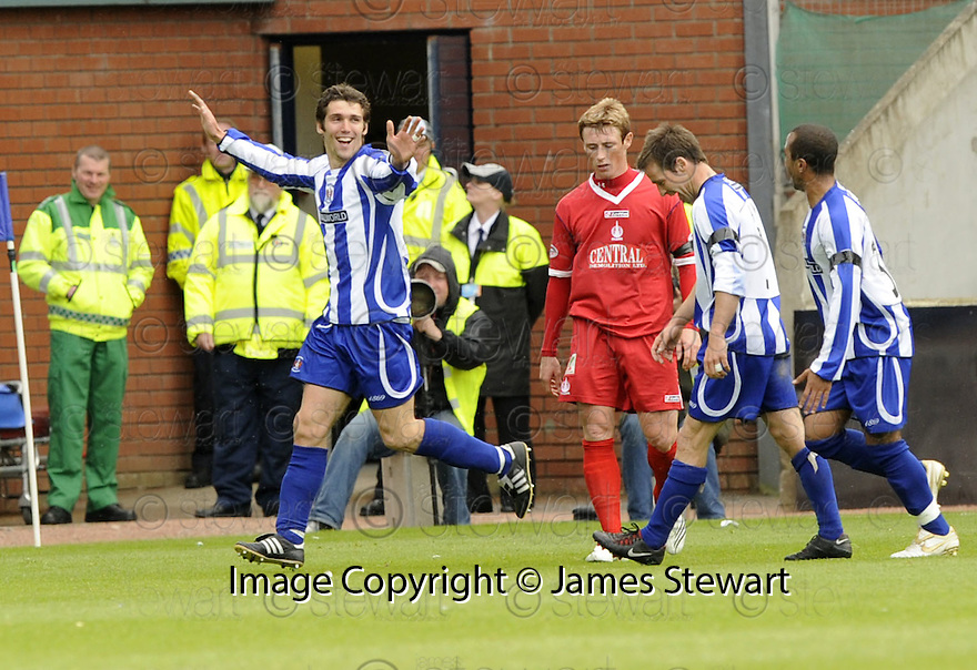 17/05/2008   Copyright Pic: James Stewart.File Name : sct_jspa17_kilmarnock_v_falkirk.PAUL DI GIACOMO CELEBRATES AFTER HE SCORES KILMARNOCK'S SECOND.James Stewart Photo Agency 19 Carronlea Drive, Falkirk. FK2 8DN      Vat Reg No. 607 6932 25.Studio      : +44 (0)1324 611191 .Mobile      : +44 (0)7721 416997.E-mail  :  jim@jspa.co.uk.If you require further information then contact Jim Stewart on any of the numbers above........